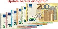 Update für 5, 10, 20, 50, 100 und 200 Euro Scheine bereits durchgeführt!